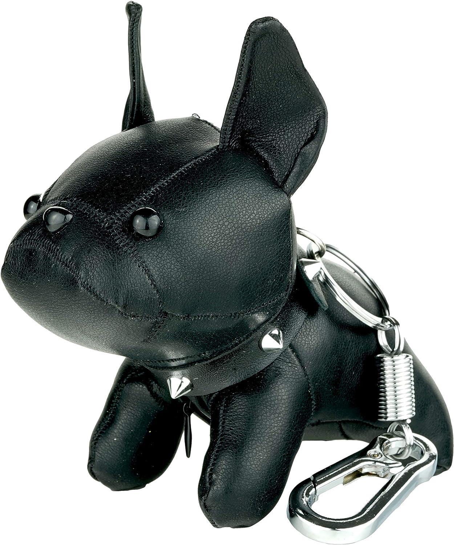 Avon Gris French Bulldog Moelleux POM POM Keyring Keychain Key chain Frenchie Sac