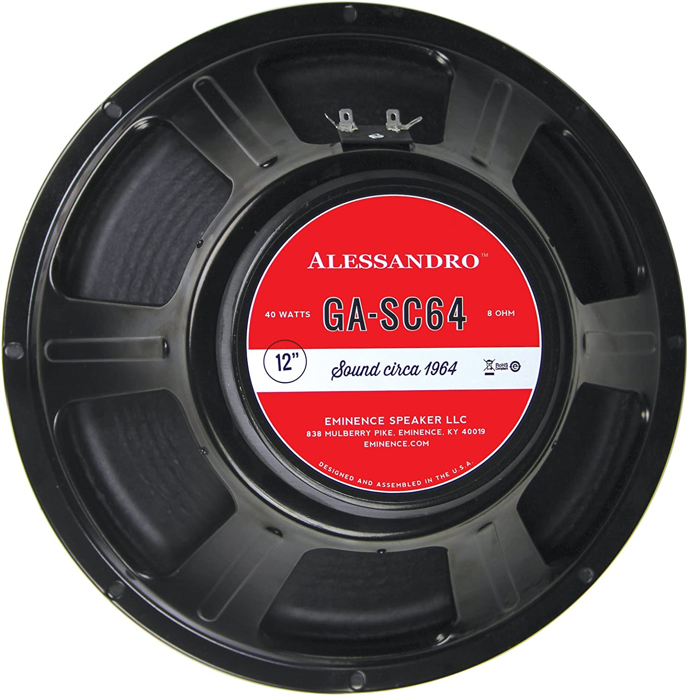 "Eminence George Alessandro 10-SC64 10/"" Guitar Speaker 20W 8 Ohm"
