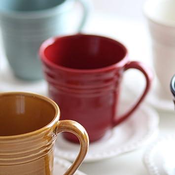 Desconocido Taza - Taza roja - Pottery - Cerámica Hecho en Portugal - 10 cm de diámetro: Amazon.es: Hogar