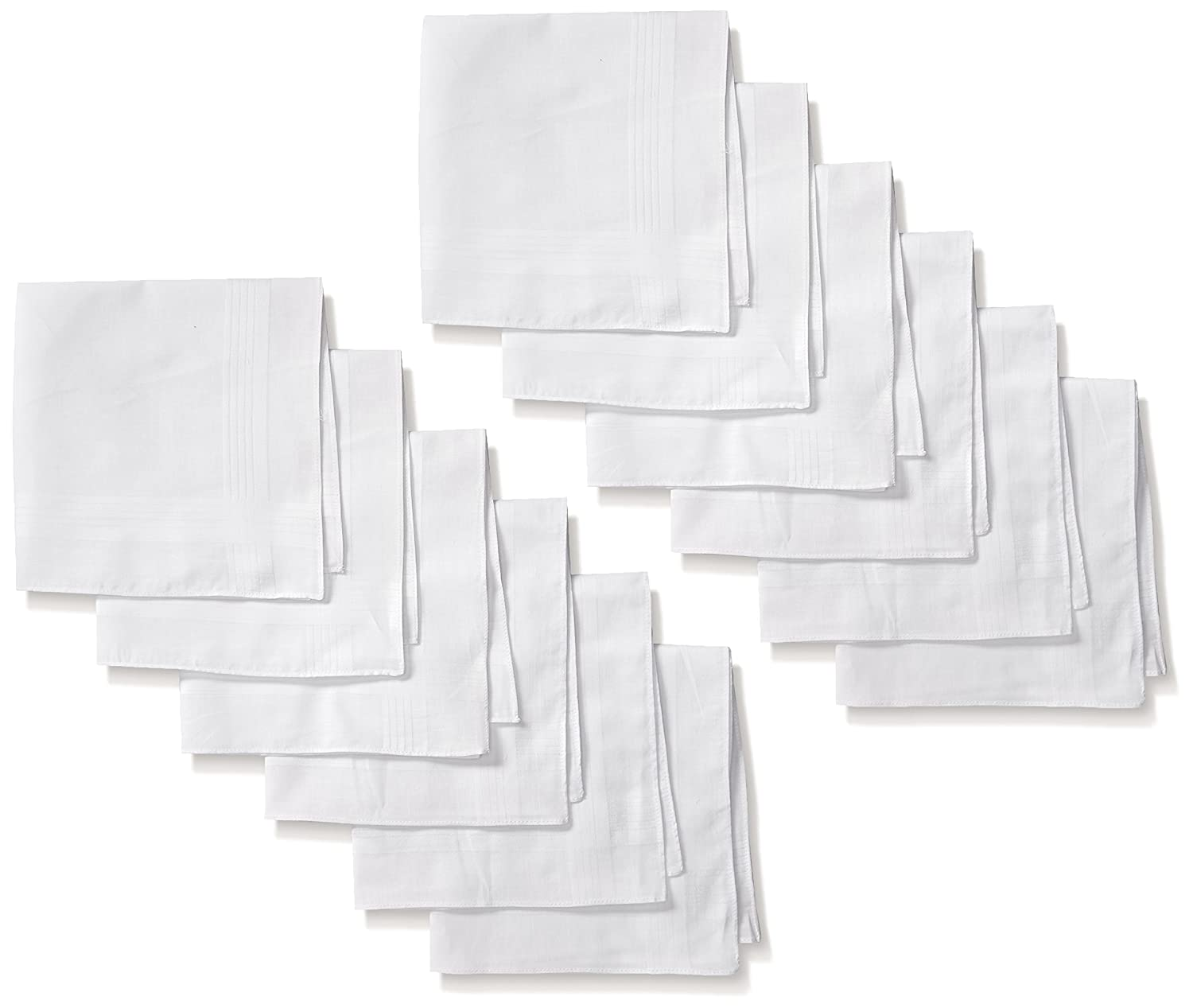 White Cotton Men's Handkerchiefs