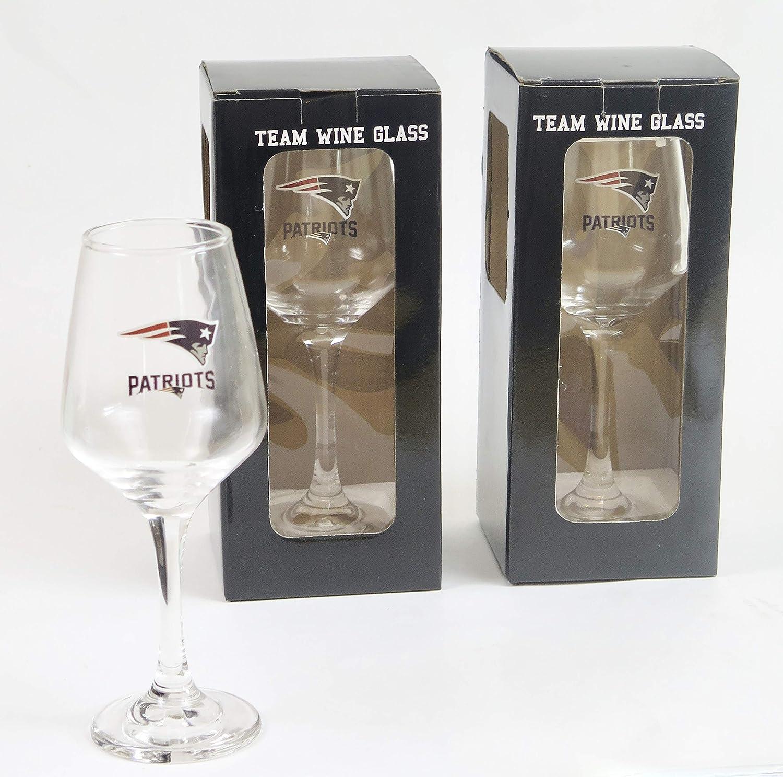 New England Patriots glass 2 pieces set.