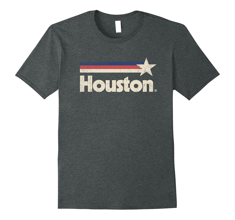 Vintage Houston Strong T-Shirt Texas Star State Flag Shirt-FL