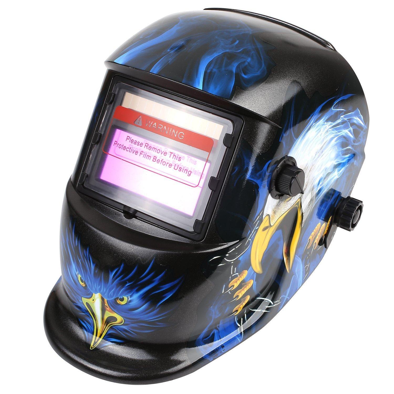 FIXKIT Careta de Soldar de Oscurecimiento Automático Casco Soldadura Máscara Soldadores para Soldar de Energía Solar Ajustable (Águila)