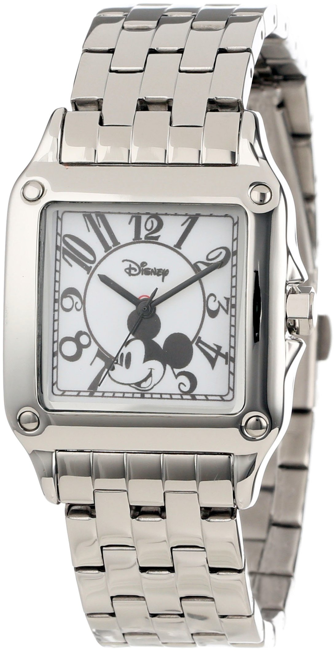 Disney Women's W000469 Mickey Mouse Perfect Square Bracelet Watch
