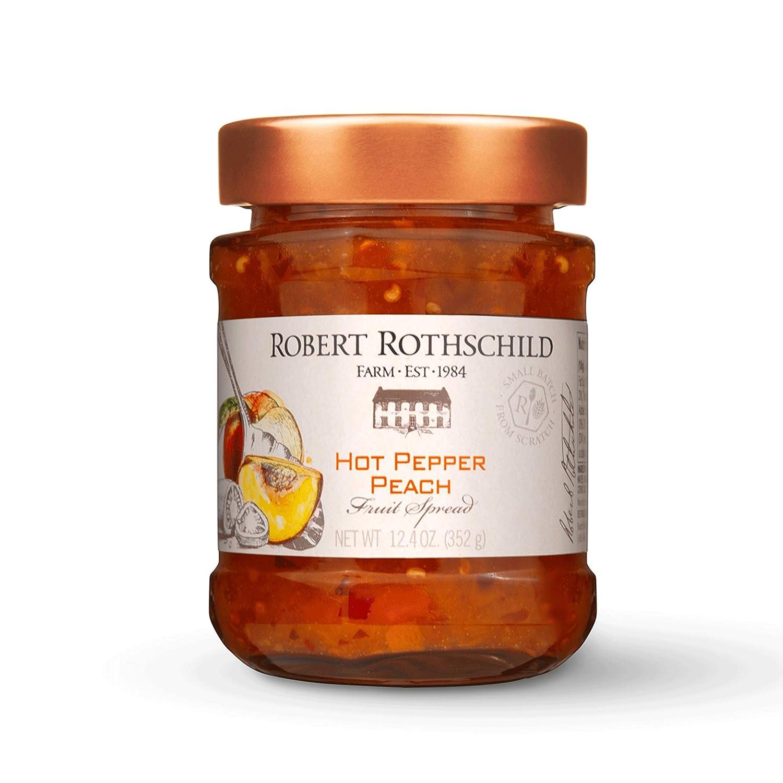 Robert Rothschild Farm Hot Pepper Peach Gourmet Preserves and Spread, 12.4 Ounces