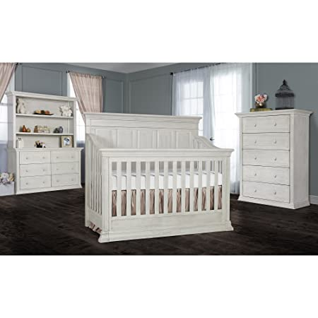 Evolur Napoli 5-in 1 Convertible Crib, Antique Grey