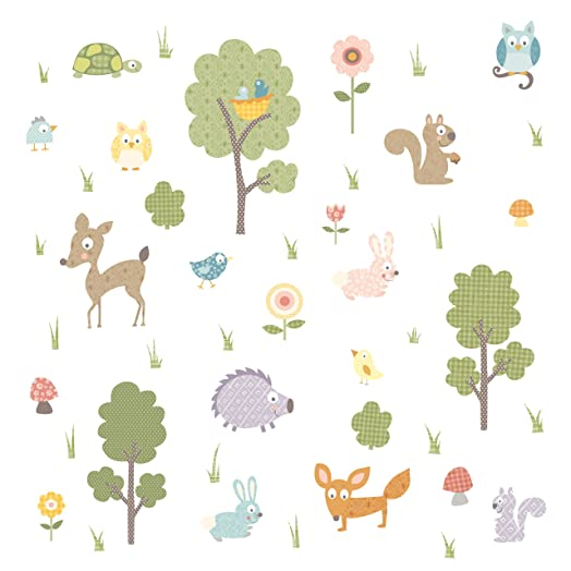 RoomMates Repositionable Childrens Wall Stickers   Woodland Animals Part 45