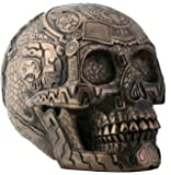 Bronze Aztec Skull with Engraving