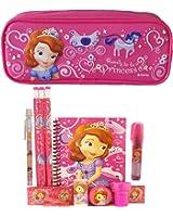 Disney Princess Sofia Pencil Case with Stationery Set - Hot Pink