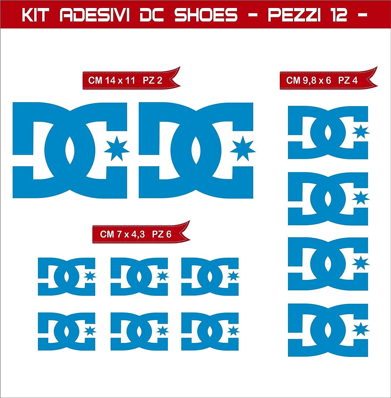 Moto Motorbike cod.0574 12 Pezzi- Pimastickerslab Kit Adesivi Stickers DC Shoes Scegli Colore