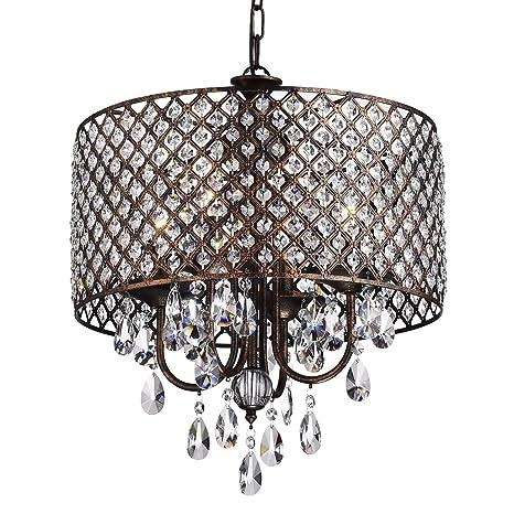 Marya 4 light antique copper round drum shade crystal chandelier marya 4 light antique copper round drum shade crystal chandelier ceiling fixture aloadofball Gallery