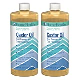 Home Health Original Castor Oil (2 Pack) - 32 fl oz - Promotes Healthy Hair & Skin, Natural Skin Moisturizer - Pure, Cold Pressed, Non-GMO, Hexane-Free, Solvent-Free, Paraben-Free, Vegan