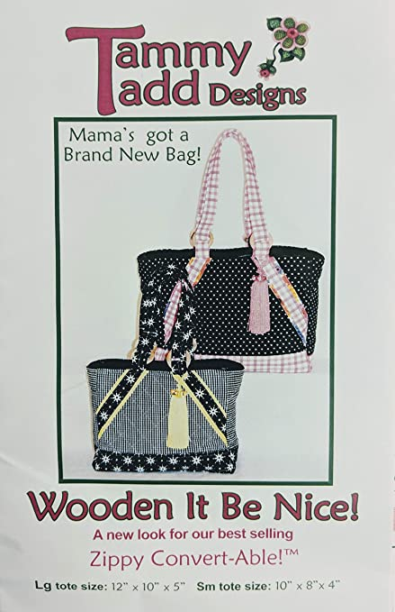 Amazon Tammy Tadd Wooden It Be Nice Tote Bag Sewing Pattern