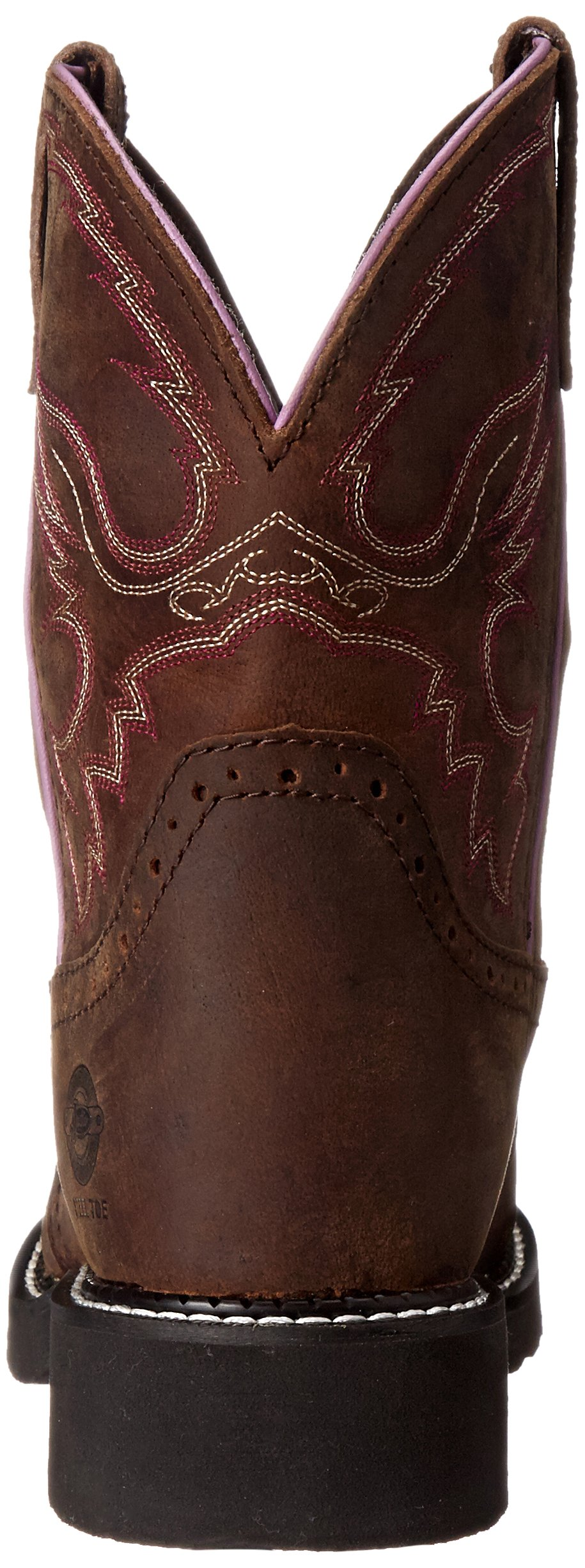 Justin Boots Women's Gypsy Collection 8'' Steel Toe,Aged Bark,6B by Justin Boots (Image #2)
