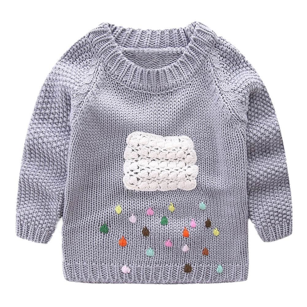 LittleSpring Little Girls' Sweater Long Sleeve Size 2T Grey by LittleSpring (Image #1)