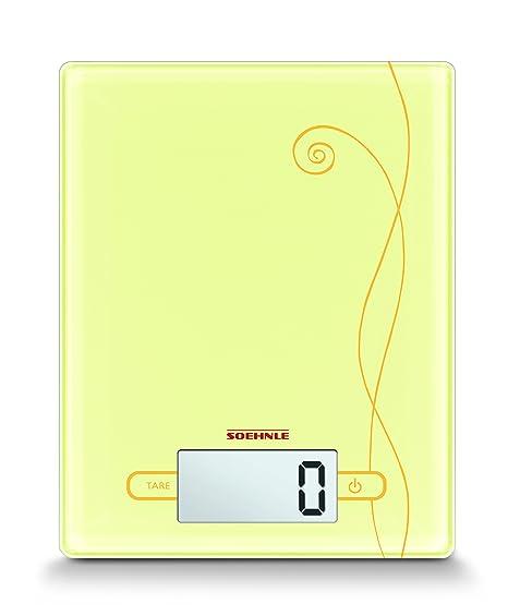 Soehnle 6320-Bascula Digital de Cocina City, Capacidad de Carga 5 kg, Color