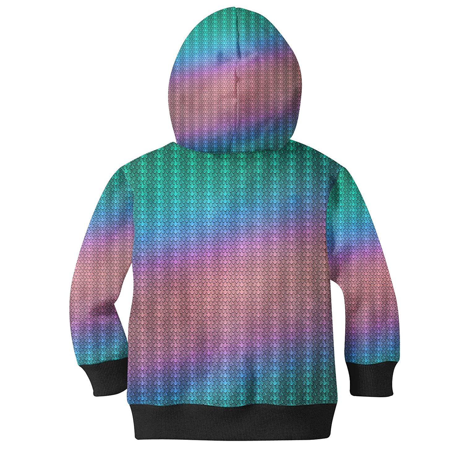 Iridescent Dragon Scales Men Zip Up Hoodie
