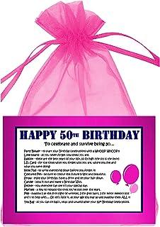 50TH BIRTHDAY SURVIVAL KIT PINK