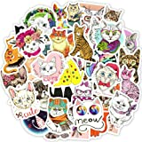 Waterproof Cat Vinyl Stickers Bomb Laptop Water Bottle Folders Toy for Kids (50 Pcs/Pack)