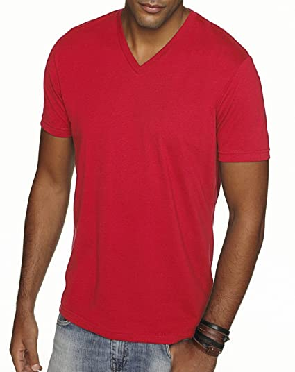 972f46f927f0 Next Level 6440 Premium Fitted Sueded V-Neck Tee Red Large | Amazon.com