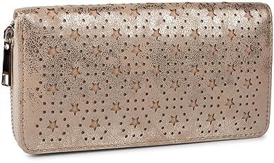 7fcf12a90f94e styleBREAKER Geldbörse mit Punkte und Sternchen Cutout Muster ...