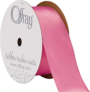 "product image for Offray Berwick 1.5"" Single Face Satin Ribbon, Hot Pink, 25 Yds"