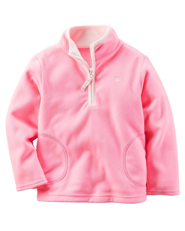 59c8ba491 Amazon.com: Carter's Baby Girls' Half-Zip Fleece Pullover (3 Months, Pink):  Clothing