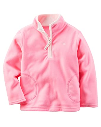 Amazon.com: Carter's Baby Girls' Half-Zip Fleece Pullover: Clothing