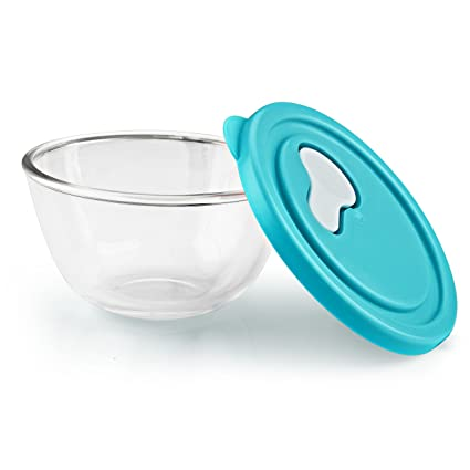 Cello Ornella Glass Mixing Bowl with Lid, Clear