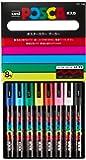 posca POSCA Acrylic Paint Marker Set, Medium, PXPC5M8, (Plastic; White Pigment; Black Pigment; Red Pigment; Yellow Pigment; Green Pigment; Pink Pigment; Blue Pigment; Water; Acrylic; Fiber Nib), Assorted, 8