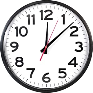 "The Ultimate Wall Clock - Quartz Wall Clock, 10"" Round, Quiet, Analog, Battery Operated, Easy to Read"