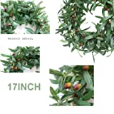 """16"""" Olive Leaf Wreath,Artificial Olive Wreath"""