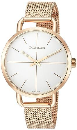 Calvin Klein One Analog Armbanduhr Damen Quarz SizeSilberfarben ZwiOXuPkT