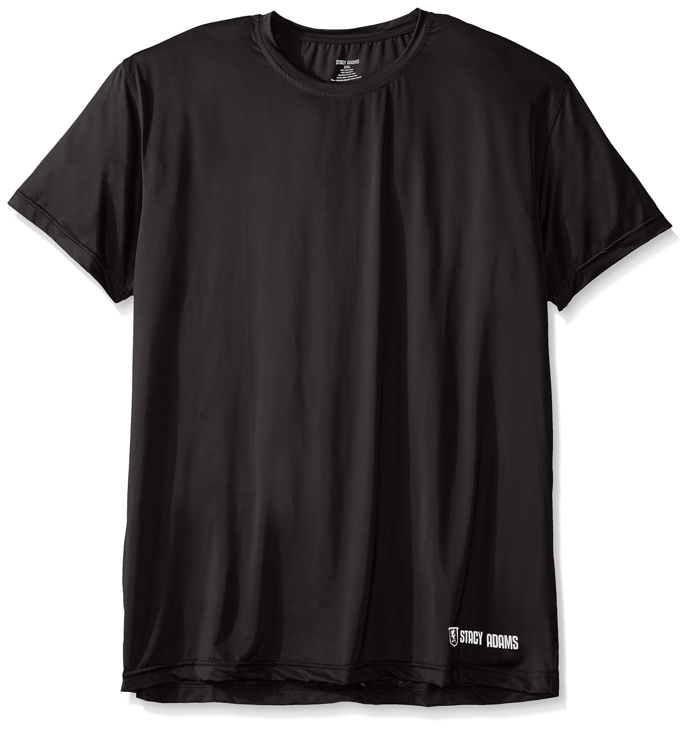 Stacy Adams Men's Big and Tall Crew Neck Tee, Black, 4X-Large by Stacy Adams