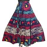 JWF Women's Cotton Jaipuri Rajsthani Full Long Skirt (Multicolour, Free Size)