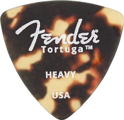 Genuine Fender Tortuga Picks 351 Medium 6 Pack