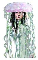 Charades Light Up Jellyfish Costume Headware, Iridescent