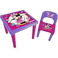 Minnie HDIM026 - Tavolo e Sedia in Plastica per Bambini