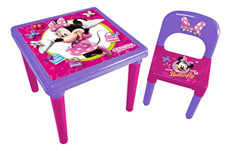 Set Tavolo E Sedie Minnie.Minnie Hdim026 Tavolo E Sedia In Plastica Per Bambini