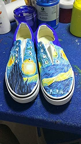 34a91aeba73b Vincent Van Gogh Vans Custom Vans Fashion Shoes for Kids Unisex Adult Shoes  Free Shipping  Amazon.ca  Handmade
