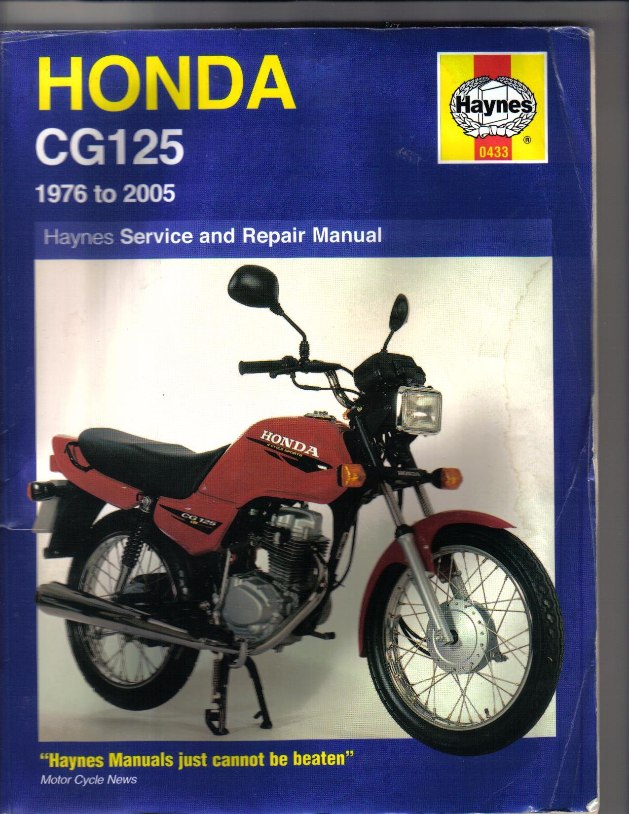 Honda CG125 Service and Repair Manual: 1976 to 2005 (Haynes Owners Workshop  Manuals): Pete Shoemark, Jeremy Churchill, Phil Mather: 9781844252930: ...