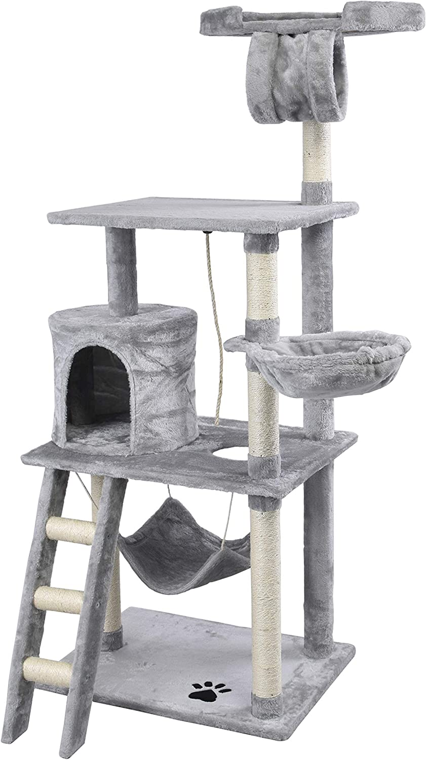 GOJOOASIS Cat Tree Tower Condo Furniture Scratch Post for Kittens Pet House Play
