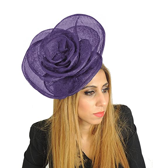 Large 10 Inch Cuban Ascot Kentucky Derby Wedding Rose Fascinator Hat Alice  Band - With Headband 8706321040c5