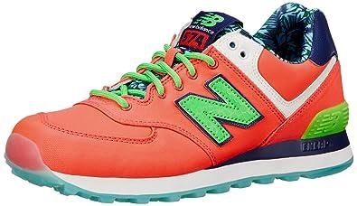 New Balance Women's WL574 Luau Collection Running Shoe, Pink/Green, ...