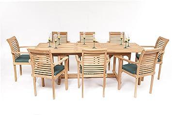 The Harrogate Teak 8 Seater Garden Furniture Set