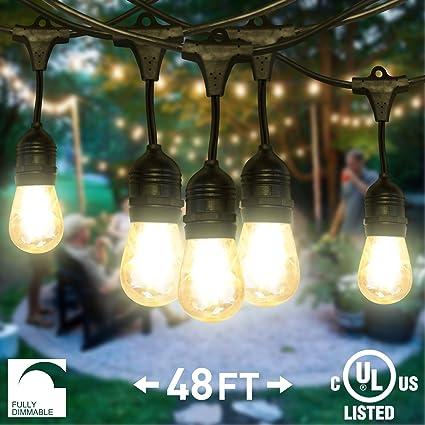 Nitor lighting led string lights outdoor dimmable 48ft commercial nitor lighting led string lights outdoor dimmable 48ft commercial grade light strand aloadofball Choice Image