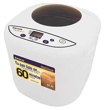 Taurus My Bread, Blanco, 450 W, 230 V, 50 Hz - Máquina de hacer pan: Amazon.es: Hogar