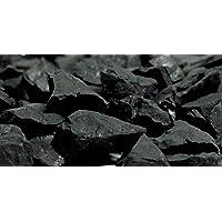 Boviswert Schungit, Rohsteine, Wassersteine, 1000g, etwa 1 bis 5g. Stücke, MIT HERKUNFTSZERTIFIKAT DER Mine!!!