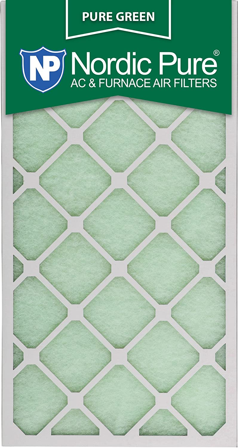 Nordic Pure 16x30x1 Eco-Friendly AC Furnace Air Filters 16 x 30 x 1 Pure Green 3 Piece