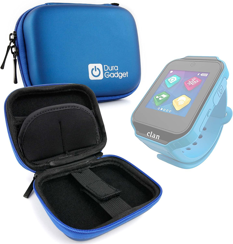 DURAGADGET Estuche Rígido Azul para Reloj de niño CEFATRONIC - Smartwatch Clan (105)